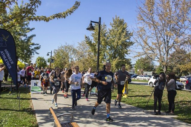 Many participated in Humber's run to raise awareness about mental health this fall. Photo courtesy of Humber College.