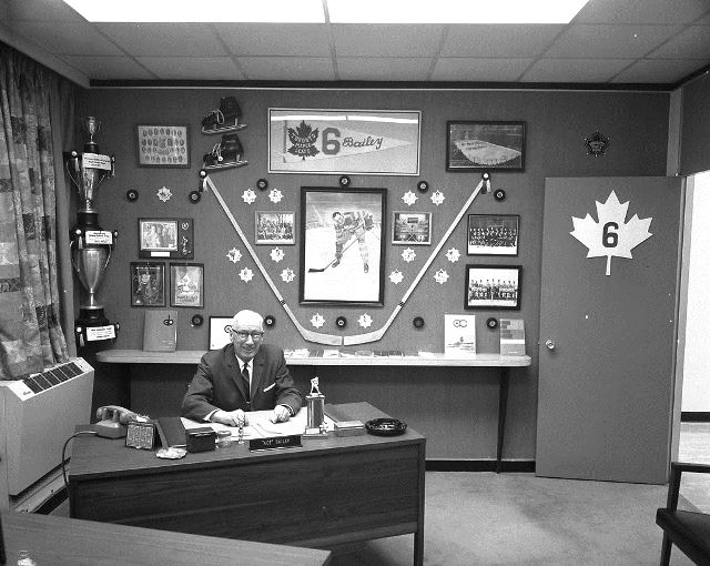 Ace Bailey's Leafs' office in 1969.  City of Toronto Archives, Fonds 1257, Series 1057, Item 2370.