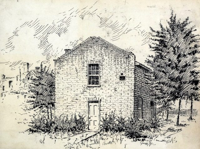 Toronto School of Medicine building on Richmond Street, from the 1850s.  Geikie's account suggests this was a lecture space prior to the affiliation with Victoria.  Courtesy of the Toronto Public Library.
