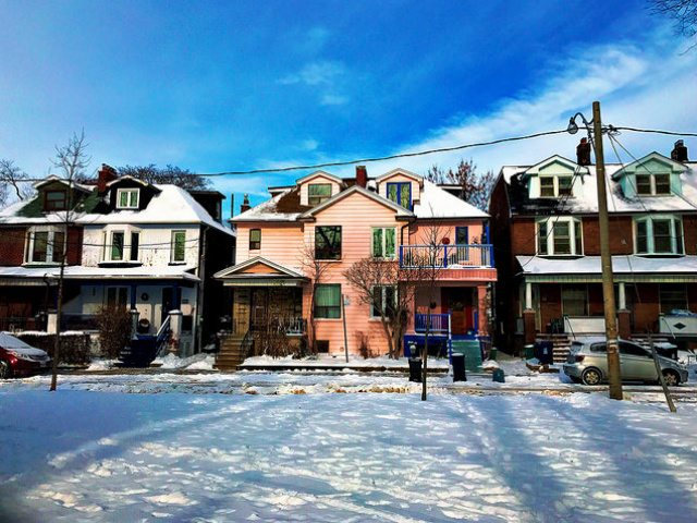 Houses in the Bloorcourt neighbourhood, photo by Julia Nathanson