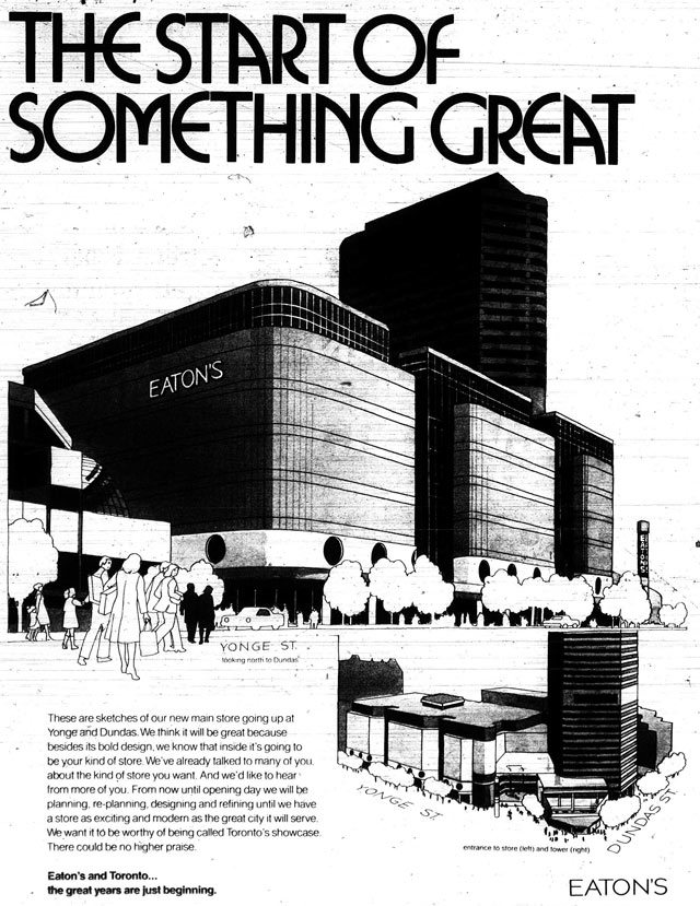 Previewing the Eaton;s store design, Toronto Sun, February 4, 1975