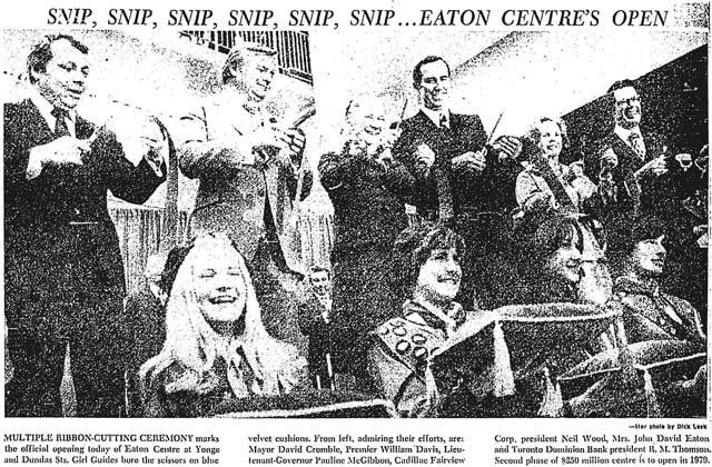 historicist opening the eaton centre