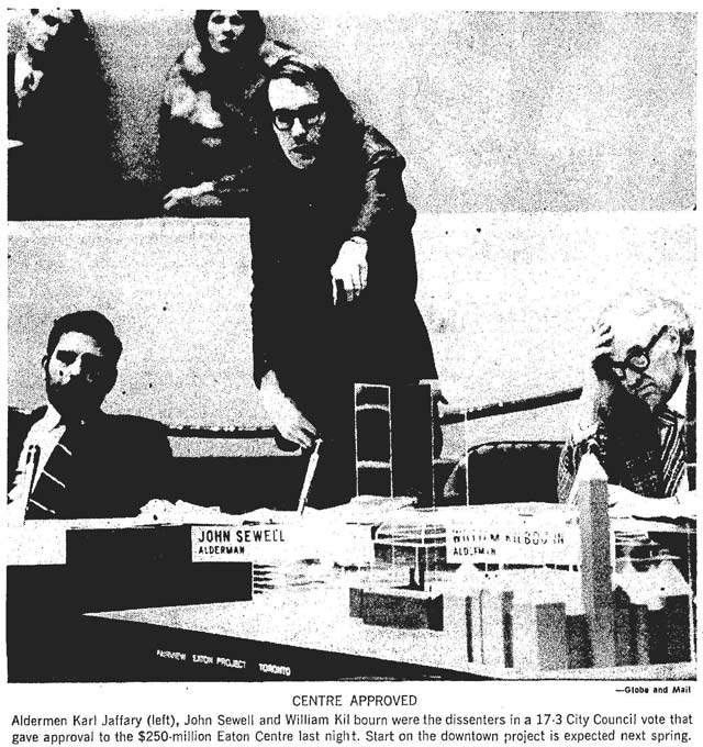 From the Globe and Mail, November 24, 1972.
