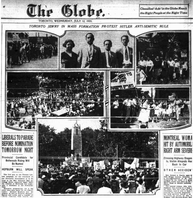 Coverage in The Globe, July 12, 1933.