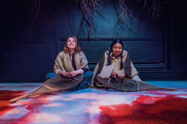 Left to right, Imogen Grace's Marguerite and Joelle Peters' Catherine's friendship bridges cultures in Deceitful Above all Things</i<... for a time. Photo by John Gundy.