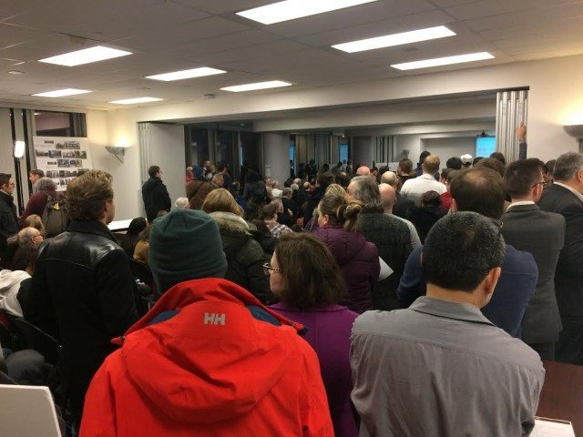 People packed into Metro Hall on February 13 to hear about the future of King Street.