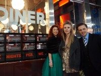 Left to right, Jennifer Walls, Jenna Warriner, and Carson Gale host the 120 Diner Oscar Viewing Party. photo by Renée Strasfeld.