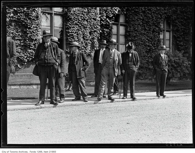 Men at the House of Providence during a picnic, September 18, 1930. Photo from the City of Toronto Archives, Globe and Mail fonds, fonds 1266, item 21993.