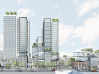 View of the proposal facing Bloor Street. Photo courtesy of Westbank.