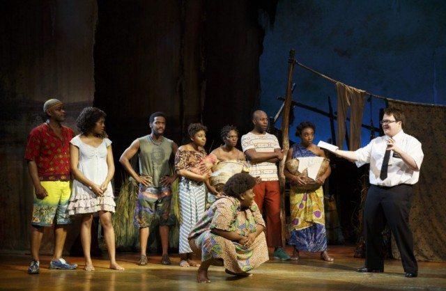 A scene from The Book of Mormon. Photo by Joan Marcus.