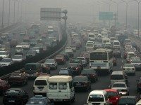 In its quest for development, China is building highways -- and cars -- at an accelerating pace. There are 26 million cars on the road today, and that number is expected to double by 2010. By then, automobiles are expected to account for nearly two-thirds of China's air pollution.  Some officials, though, are trying to hold the line on auto emissions. The country has recently introduced strict controls. And Beijing has equipped more than 2,500 buses with engines powered by natural gas, at a total cost of $26 million.
