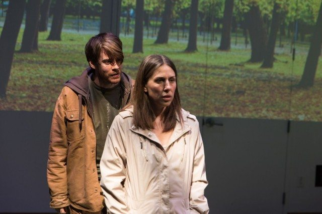 Jeff Lilico and Niki Landeau in a scene from Stranger's Babies. Photo by Neil Silcox.