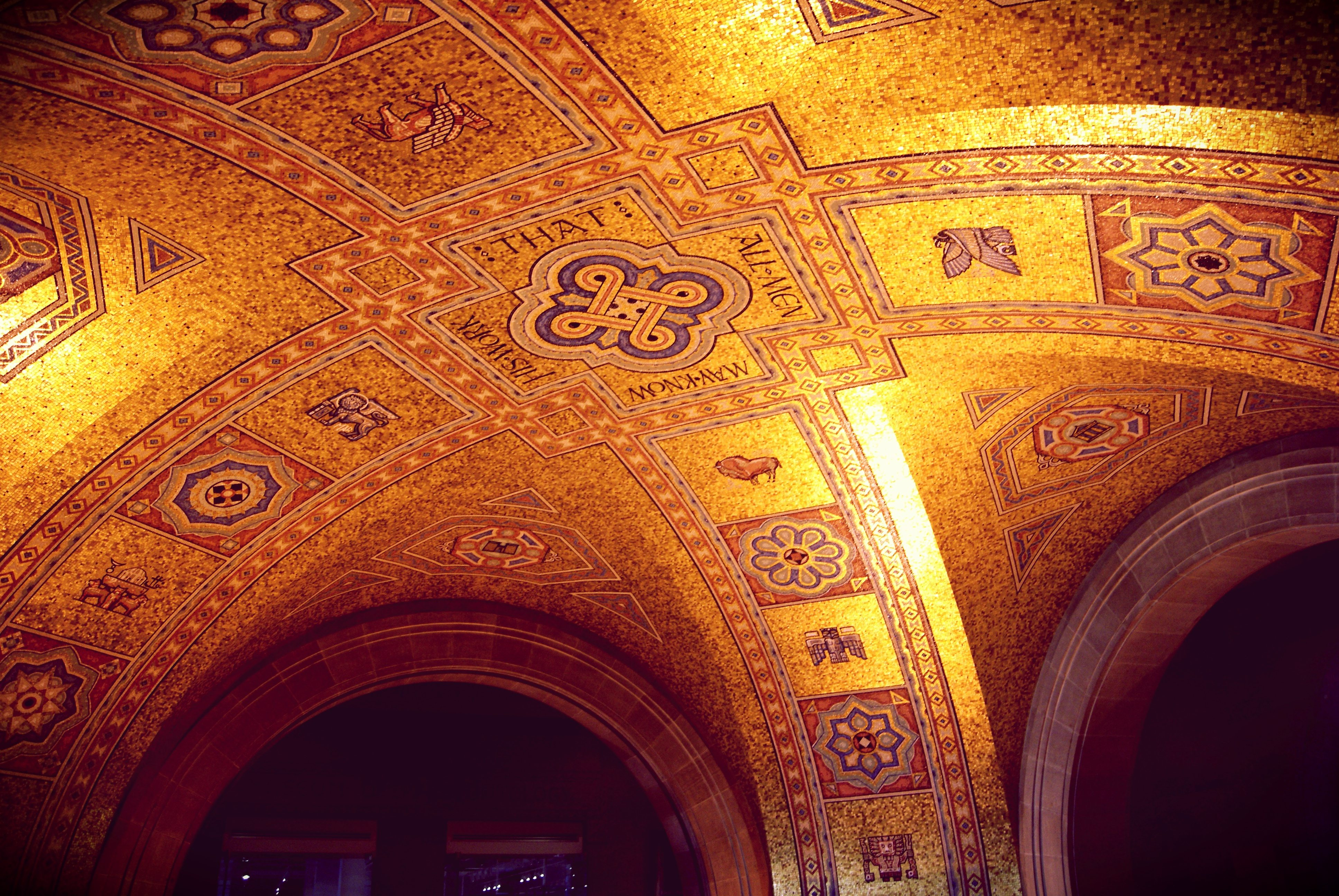 The ceiling of the rotunda at the Royal Ontario Museum. Photo by bodi bold in the Torontoist Flickr Pool.