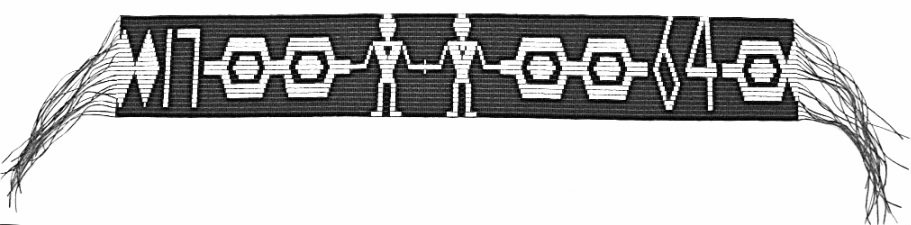 The Covenant Chain Wampum marks the Treaty of Niagara, one of the first treaties between the British and First Nations in Canada. Photo from Wikimedia Commons.