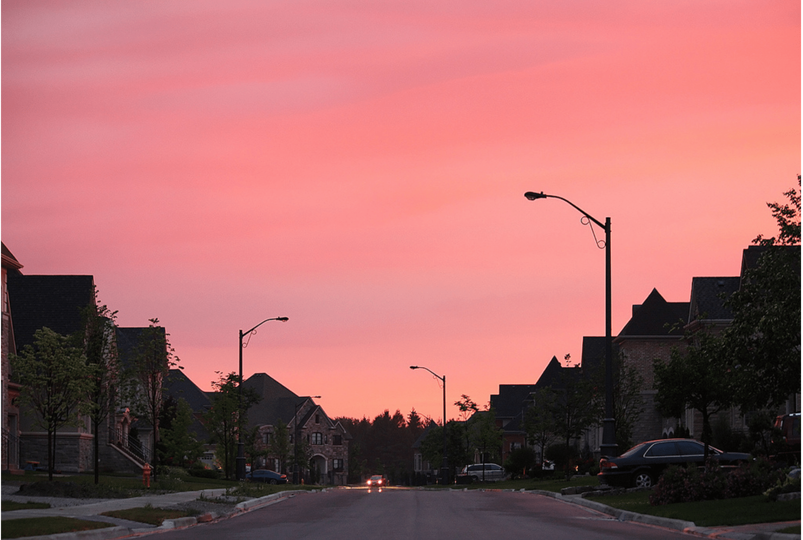 Although the suburbs have space for large houses and parks, they often aren't walkable neighbourhoods. Photo by MrDanMofo . in the Torontoist Flickr Pool.