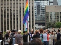In Photos: The Pride Flag Raising at City Hall