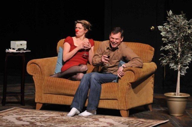 Mimi (Christy Bruce) entertains a sudden suitor in Blind Date. Photo by Murray Mitchell.