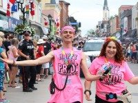 The York Region Pride parade on Main Street in Newmarket on June 17.