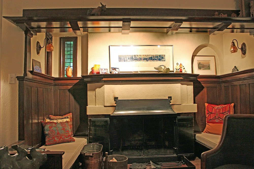 Inglenook fireplace at 267 Indian Road. Photo by Adrian Gamble on October 15, 2012.