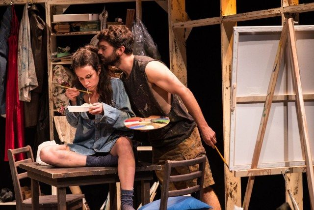 Samantha Michelle and Ludovic Hughes in a scene from Permanence, on now at Tarragon Theatre. Photo by Lyon Smith.