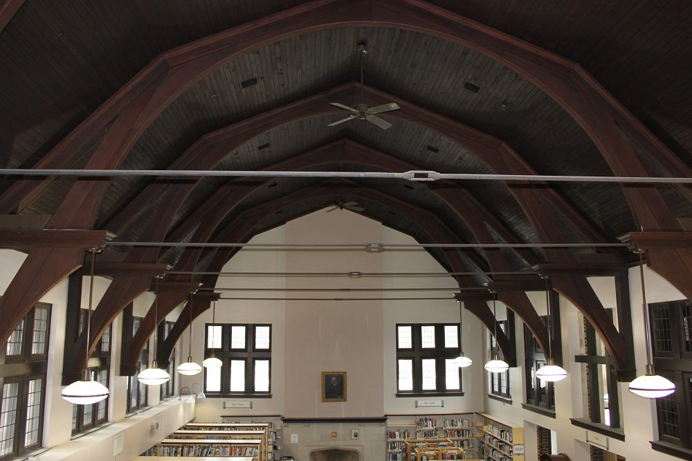 The interior of the Wychwood branch of the Toronto Public Library. Photo by Adrian Gamble.