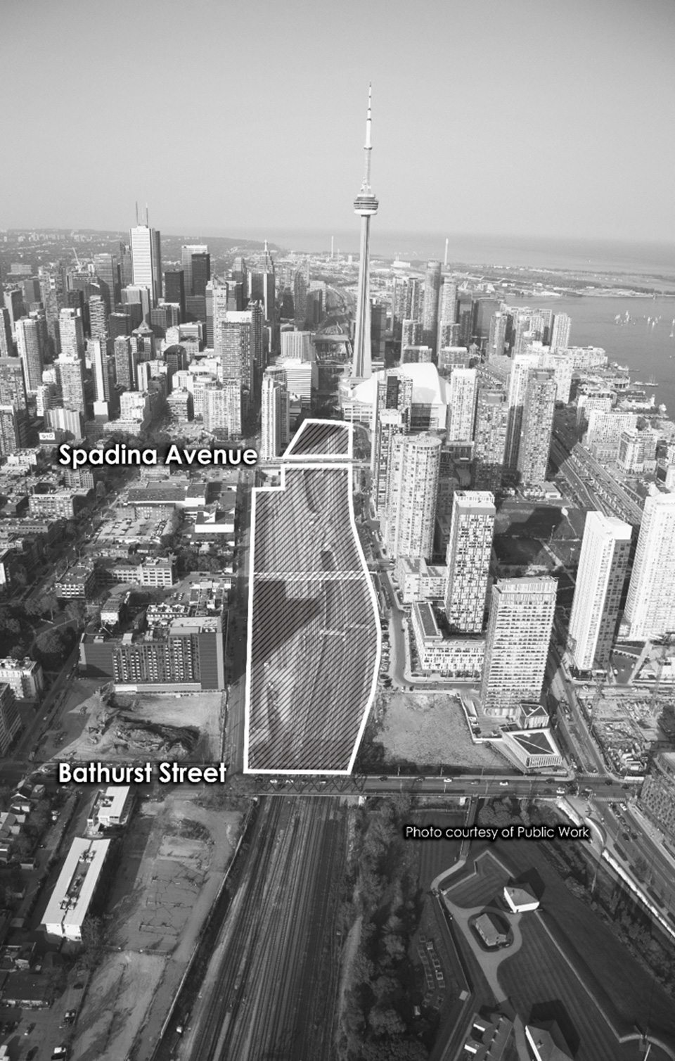 Rail Deck Park would create 21 acres of public parkland between Bathurst Street and Blue Jays way. Photo: City of Toronto