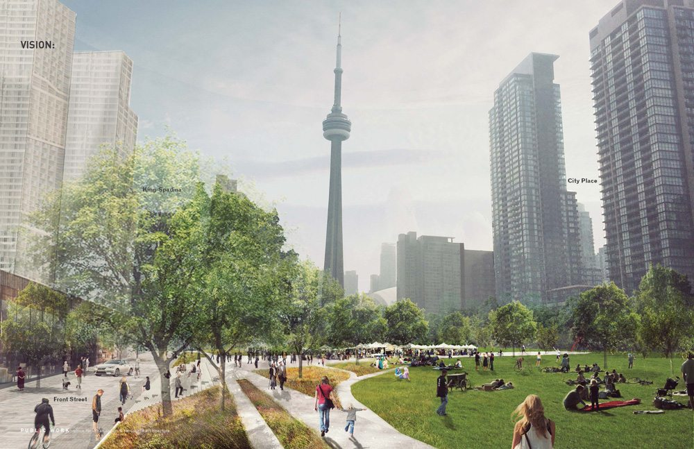 Conceptual Rendering of Rail Deck Park. Rendering: City of Toronto