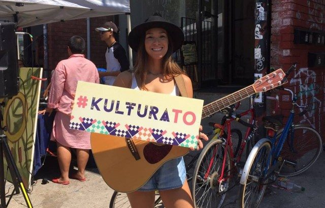 Emily Schultz, a member of HATAW, performs as part of the Kultura Festival on August 13. Detail of a photo by Irdk.Mia, from Kultura's FB page.