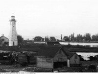 The Gibraltar Point lighthouse in 1909. Photo from the City of Toronto Archives Fonds 1231, Item 1015b.