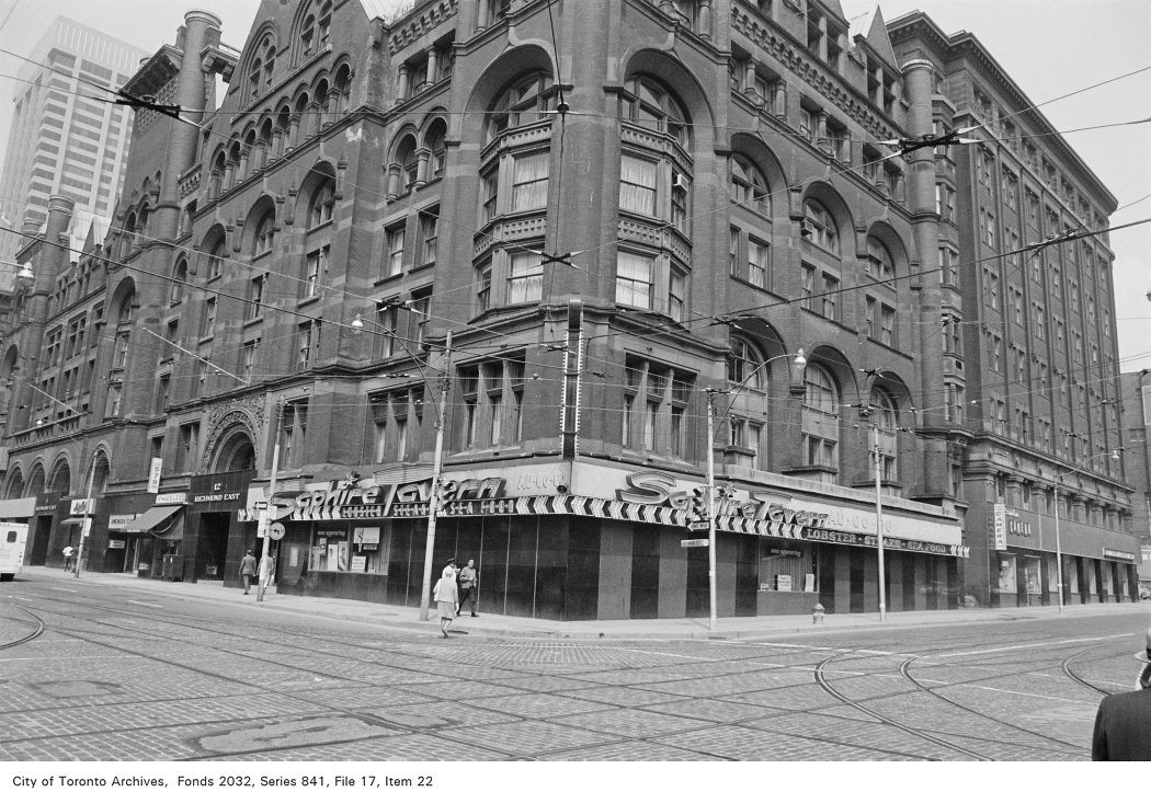 The Saphire Tavern in 1972. From the City of Toronto Archives, Fonds 2032, Series 841, File 17, Item 22